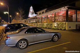 Honda Prelude BB6 in Front of the Restaurant