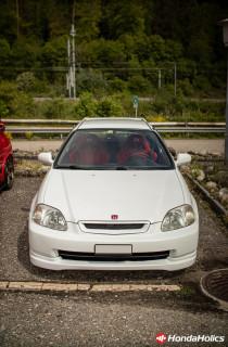 white Honda Civic Hatchback VTi EK4