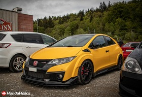 yellow Honda Civic Type R FK2R