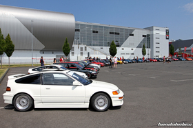Side View of a white Honda CRX EF8 at the EE-Meeting