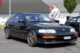 Black Honda CRX EF8 on Sprach Wheels at the EE-Meeting