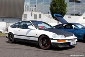 White Honda CRX EF8 on Mugen RNR Wheels at the EE-Meeting