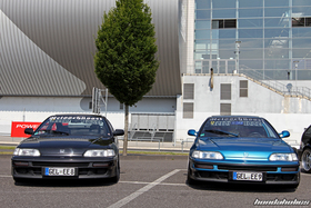 Front View of two Honda CRX EF8 at the EE-Meeting