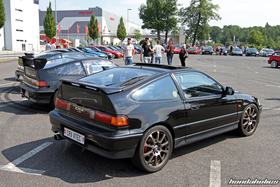 Rear View of two black Honda CRX EF8 at the EE-Meeting