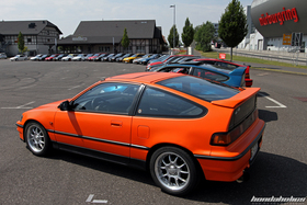 Side View of the CRX an Civic at the EE-Meeting