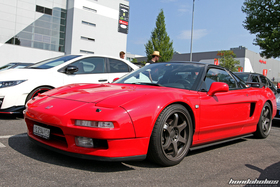 Laterally Front View of a red Acura NSX NA1 at the EE-Meeting