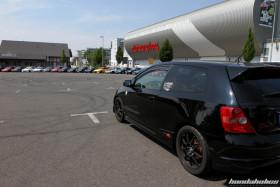 Black Honda Civic Type R EP3 at the EE-Meeting