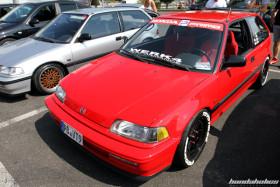 Kanjo Style red Honda Civic ED6 at the EE-Meeting