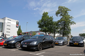 Four Honda Civic Type R EP3 at the EE-Meeting