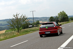 Red Honda Civic EF9 Turbo on the ride at the EE-Meeting
