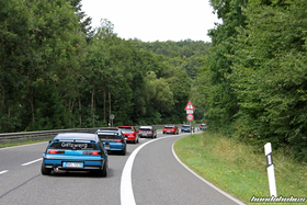 Two Celestial Blue Honda CRX EF8 on the ride at the EE-Meeting