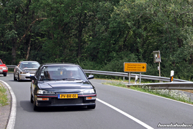 Black Honda Civic EF9 on the ride at the EE-Meeting