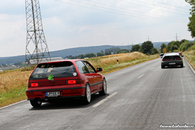 Civic an CRX on the ride of the EE-Meeting
