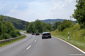 Three Hondas on the windy of the Eifel