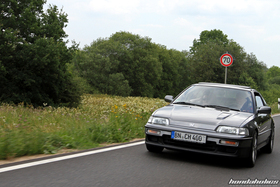 Grey Honda CRX ED9 on the ride of the EE-Meeting