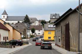 Honda Civic EF9 and CRX EF8 drive through a village