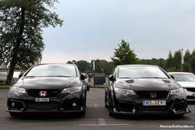 two black Civic FK2R stand beside each other