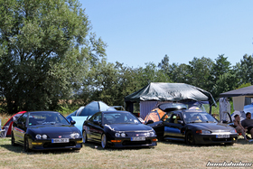 Two Integra DC2 and a Civic EG6 from the front