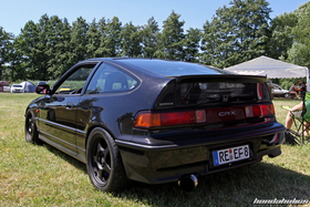 Rear View of a black CRX ED9 at the Hondapower-Meet