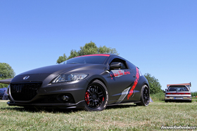 Flat black CRZ ZF1 from the front