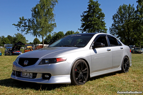 Silver Acura TSX CL9 at the Hondapower-Meet