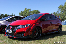 Red Civic Type R FK2R at the Hondapower-Meet