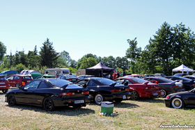 Four Acura Integra DC2 from the rear