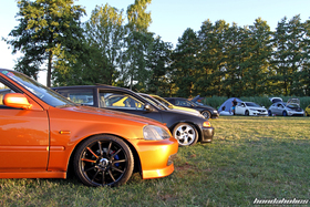 Civic EJ9 in Imola Orange at the Hondapower-Meet