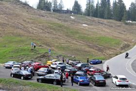 Teilnehmer der Honda-Ausfahrt auf der Ibergeregg